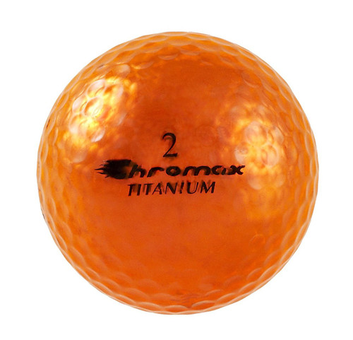 Chromax Metallic Orange Golf Balls - Pack of 6 Golf Balls