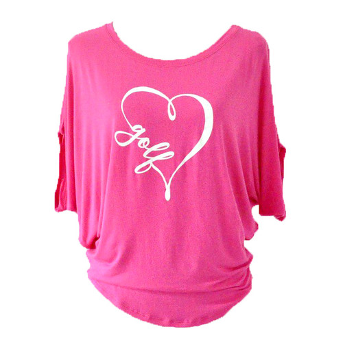 Bump & Run Pink I Heart Golf Circle Top