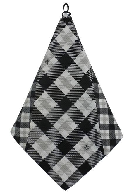 Beejo Black & White Plaid Golf Towel