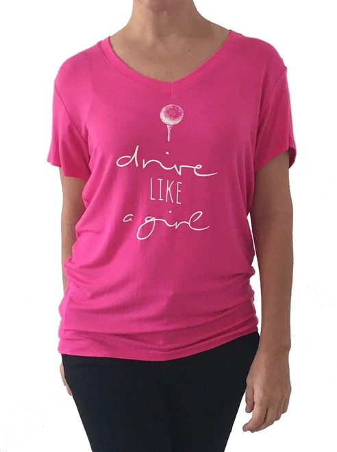 Bump & Run Pink Drive Like a Girl Tee - Size: XS