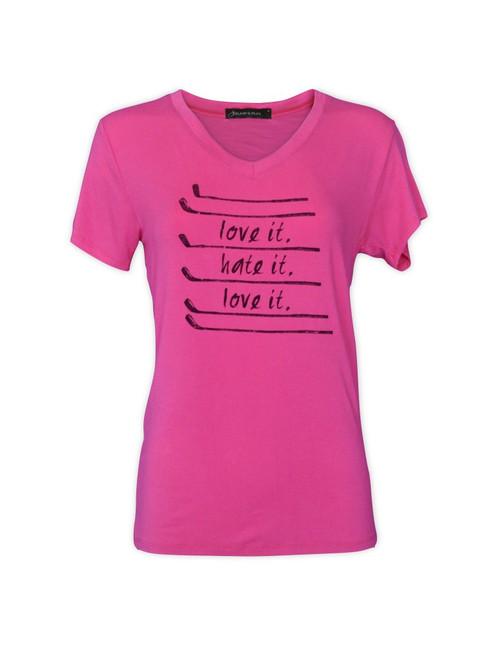 Bump & Run Love It, Hate It Pink Tee