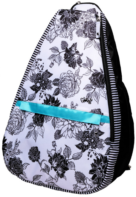 Glove It Black & White Rose Tennis Backpack