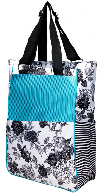 Glove It Black & White Rose Tennis Tote Bag