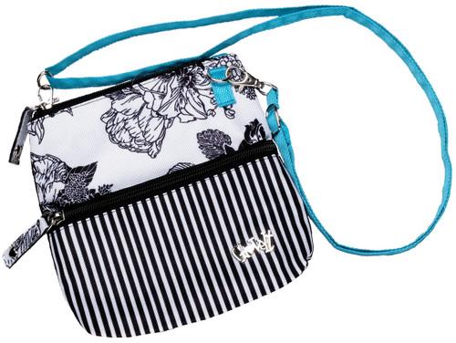 Glove It Black & White Rose Zip Golf Accessory Bag