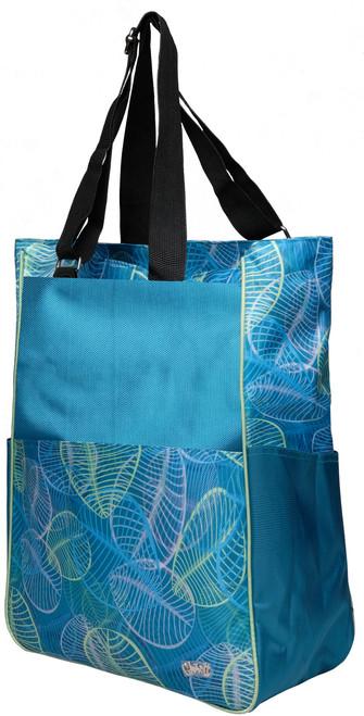 Glove It Aqua Leaf Tennis Tote Bag