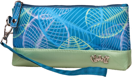 Glove It Aqua Leaf Wristlet