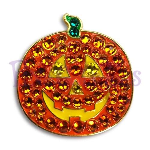 Bonjoc Pumpkin Swarovski Crystal Ball Marker with Magnetic Hat Clip