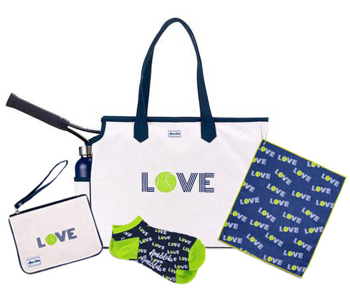 Ame & Lulu Love All Tennis Bag + Towel, Wristlet and Socks