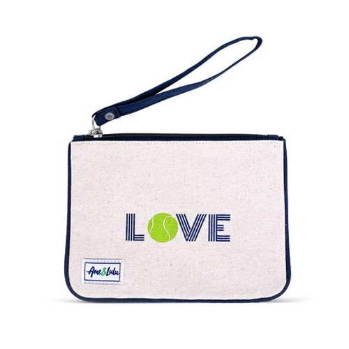 Ame & Lulu Icon Forget Me Not Tennis Wristlet - Green Love