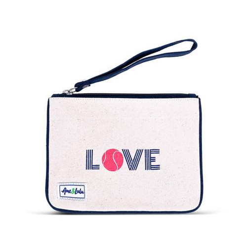 Ame & Lulu Icon Forget Me Not Tennis Wristlet - Pink Love