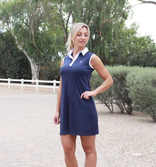 2GG Platinum Performance Golf Dress - Navy Blue