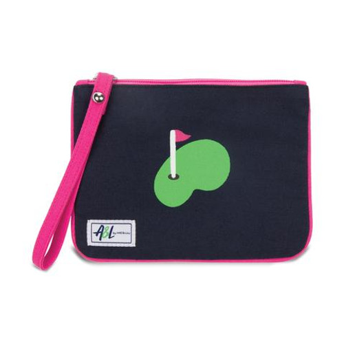 A&L Forget Me Not Putting Green Wristlet