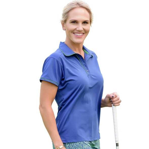 Look as good as your short game in our Pitch and Putt Polo that lends a chic update to the basic golf polo with its lower back mesh body panel and contrast piping.