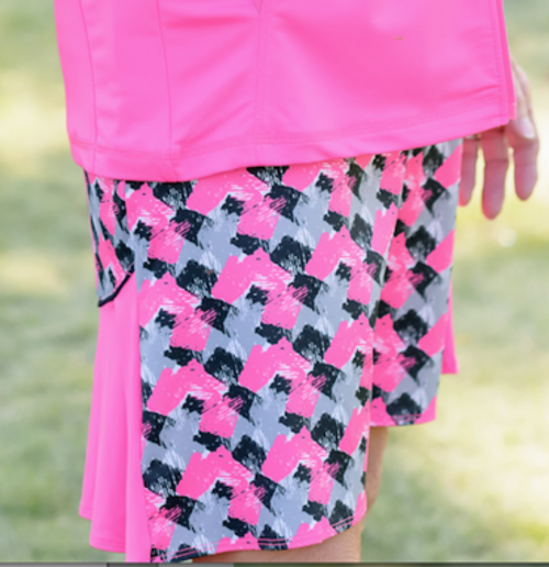 Birdies & Bows Abstract Ace Accordion Golf Skort