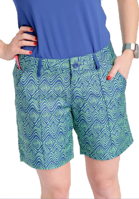 "Birdies & Bows Curvy Caddy 7"" Golf Shorts"