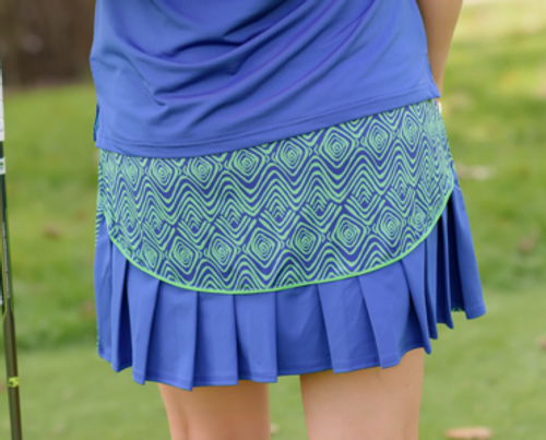 Birdies & Bows Curvy Caddy Accordion Golf Skort