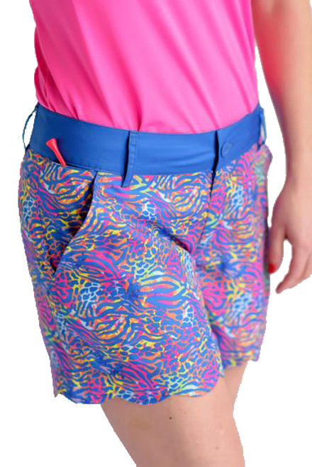 "Birdies & Bows Chipping Cheetah 5"" Golf Shorts"