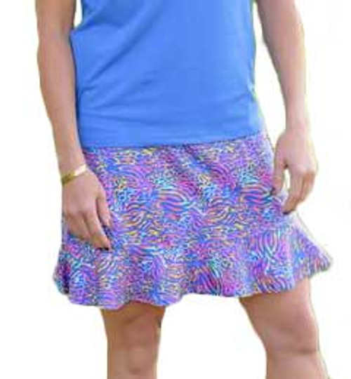 Birdies & Bows Chipping Cheetah Flounce Golf Skort