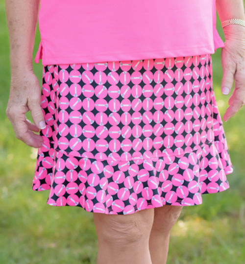 Birdies & Bows Tipping Tees Flounce Golf Skort