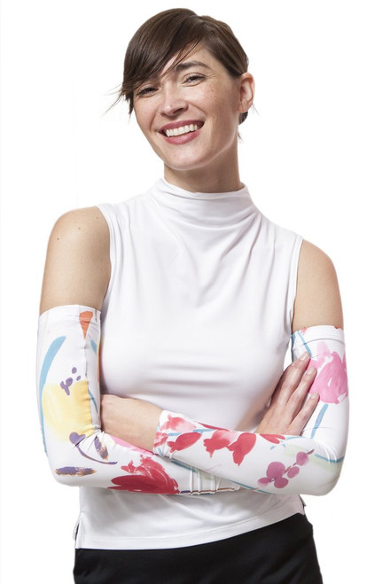 Iconic del Sol UPF 50+ Unisex Sun Sleeves - Day Lily Print