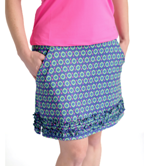 Birdies & Bows Deuce Dots Ruffle Golf Skort