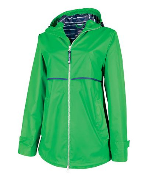 Ame & Lulu New Englander Rain Jacket - Kelly Green