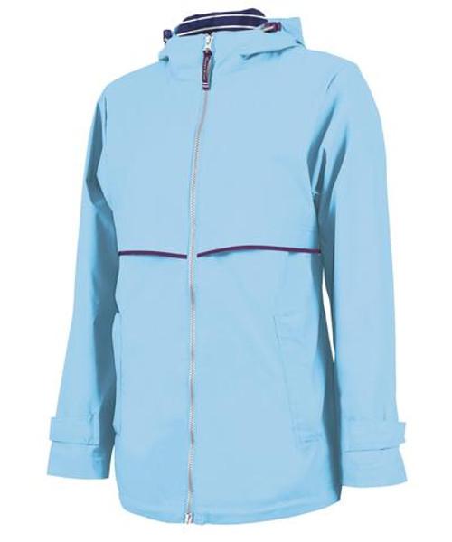 Ame & Lulu New Englander Rain Jacket - Light Blue