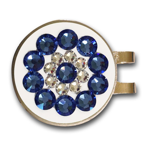 Blingo Sapphire Ladies Golf Ball Marker