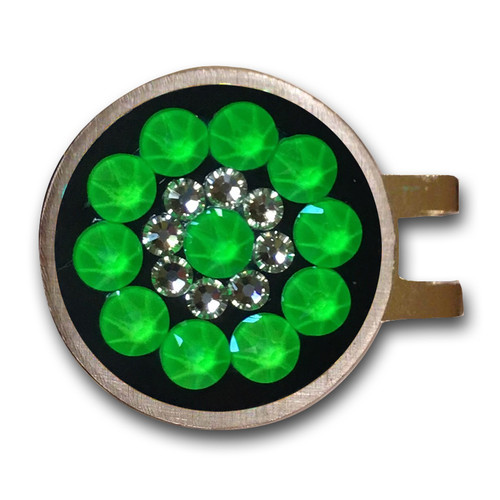 Blingo Neon Green Ladies Golf Ball Marker