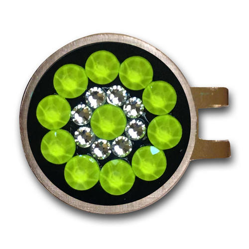 Blingo Neon Yellow Ladies Golf Ball Marker