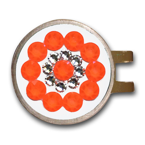 Blingo Electric Orange Ladies Golf Ball Marker