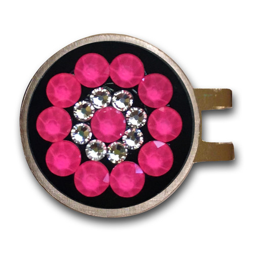 Blingo Neon Pink Ladies Golf Ball Marker