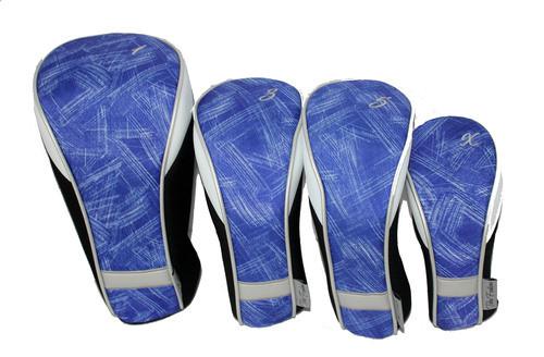 Taboo Fashions Blue Brushstrokes Ladies Club Cover Set