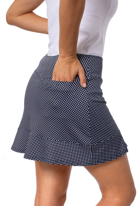 Golftini Putt Putt Navy Pull-On Ruffle Golf Skort