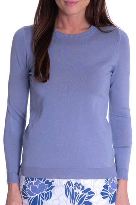 Golftini Dusty Blue Crew Neck Sweater