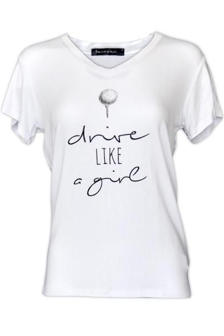 Bump & Run Drive Like a Girl White Tee