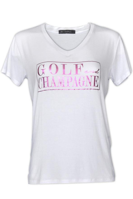 Bump & Run Golf and Champagne White Tee
