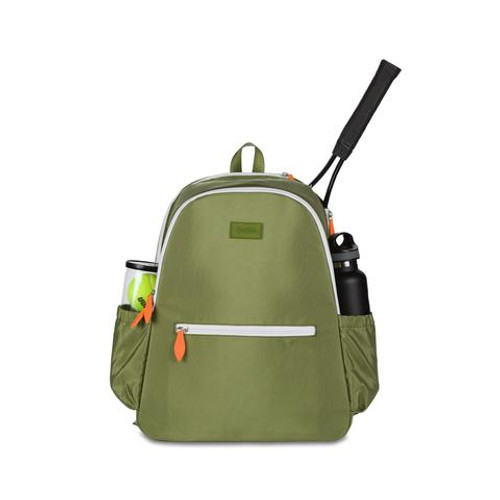 Ame & Lulu Courtside Army Green Tennis Backpack