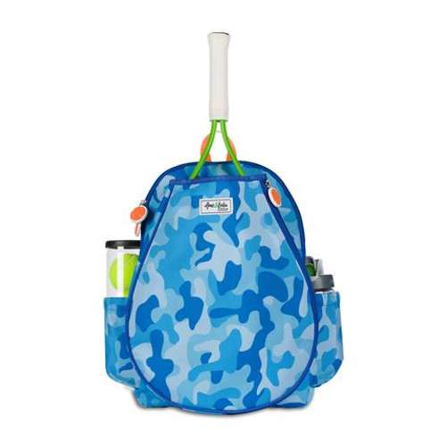 Ame & Lulu Little Love Kids Tennis Backpack - Blue Camo