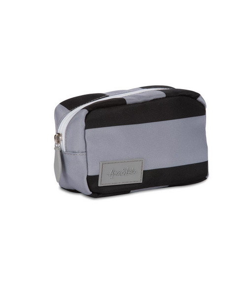 Ame & Lulu Black & Grey Mini Pouch