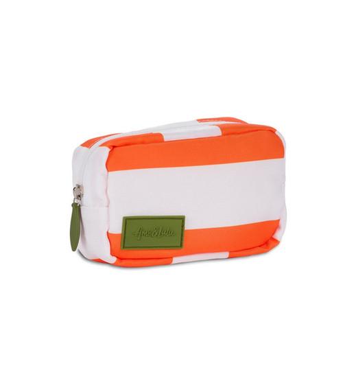 Ame & Lulu Orange & White Mini Pouch