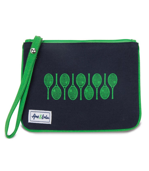 Ame & Lulu Icon Forget Me Not Tennis Wristlet - Racquets