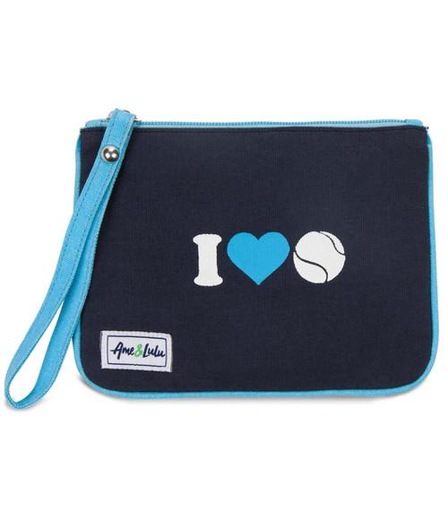 Ame & Lulu Icon Forget Me Not Tennis Wristlet - I Heart Tennis