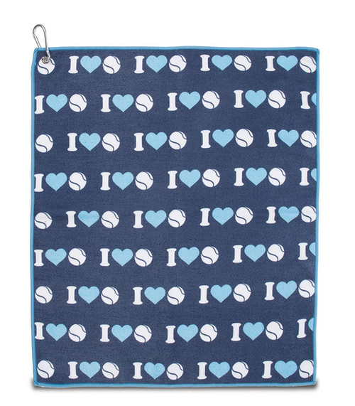 Ame & Lulu Tinsley I Heart Tennis Towel