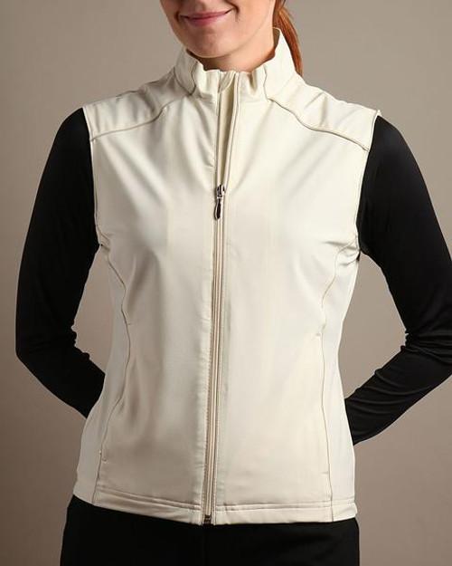 Glen Echo Golf Ladies Khaki Light Stretch Tech Water Repellent Vest