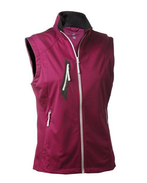Glen Echo Golf Ladies Fuchsia Stretch Tech Water Repellent Full Zip Vest
