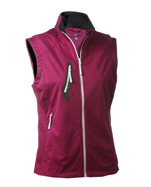 Glen Echo Golf Ladies Fuchsia Stretch Tech Water Repellent Full Zip Vest