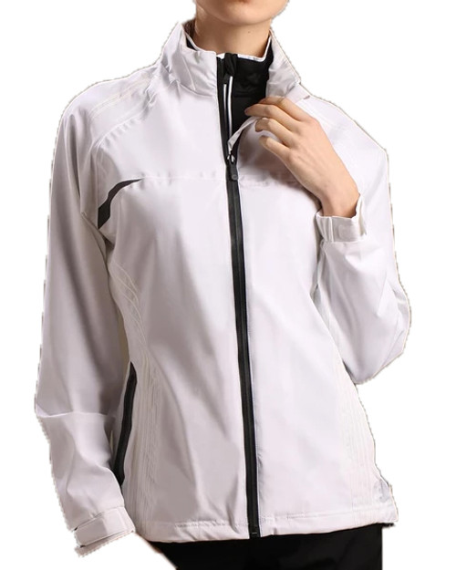 Glen Echo Ladies White Stretch Tech Rain Jacket