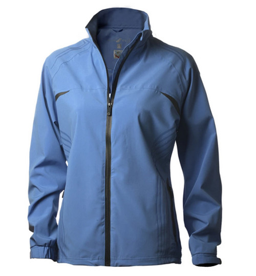 Glen Echo Ladies Blue Stretch Tech Rain Jacket - Size: S