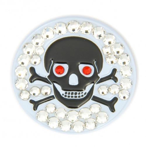 Bonjoc Skull & Bones Swarovski Crystal Ball Marker